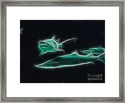 Shark-09442-fractal Framed Print by Gary Gingrich Galleries