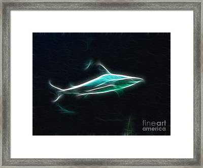 Shark-09451-fractal Framed Print by Gary Gingrich Galleries