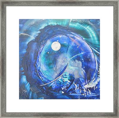 Shark Bay Curl Framed Print