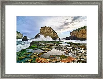 Shark Fin Cove Framed Print
