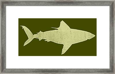 Shark Framed Print by Michelle Calkins