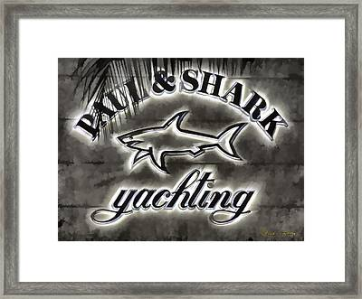 Shark Sign Framed Print by Chuck Staley
