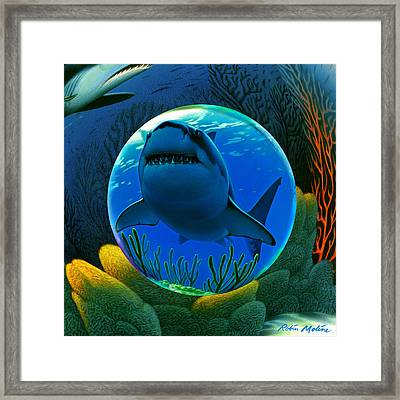 Shark World  Framed Print