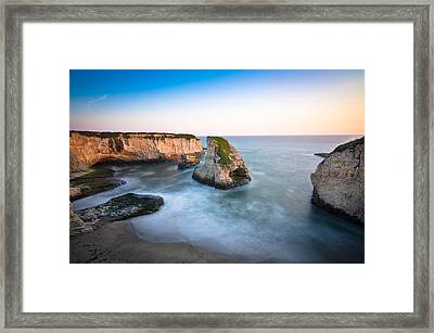 Shark Fin Cove  Framed Print by Justin Matoi