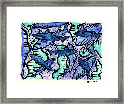 Sharkpac... Framed Print