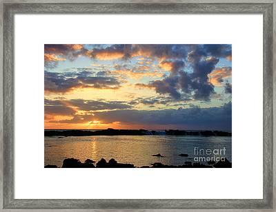 Sharks Cove Pupukea Oahu Hawaii Framed Print by Leslie Kirk
