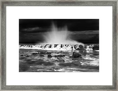 Sharks Cove Spectacle Framed Print by Sean Davey