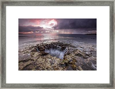 Sharks Mouth Cove Framed Print