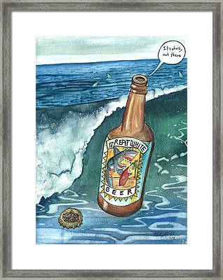 Sharky Water Framed Print by Whitney Palmer
