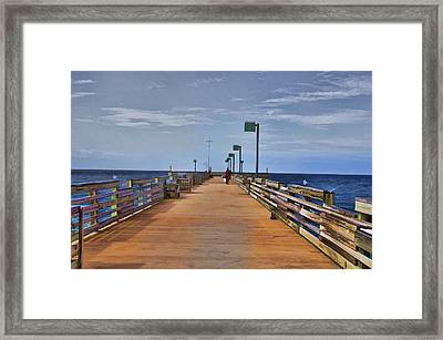 Sharky's Fishing Pier Framed Print