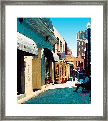 Sharon's Cafe Watercolor Framed Print by Garland Johnson