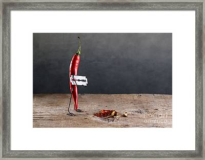 Sharp Chili Framed Print by Nailia Schwarz
