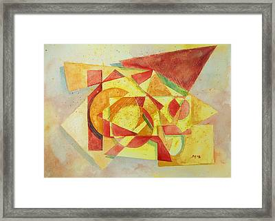 Framed Print featuring the painting Sharp Edges by Andrew Gillette