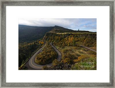Sharp Turns Framed Print by Mike Dawson