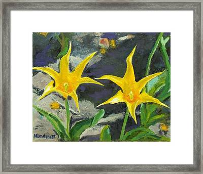 Sharp Yellow Pointers Framed Print
