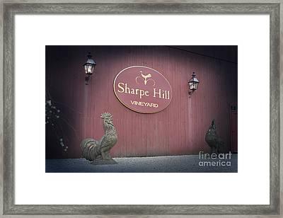 Sharpe Hill Vineyard Sign Framed Print