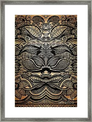 Sharpie On Cardboard Framed Print by HD Connelly