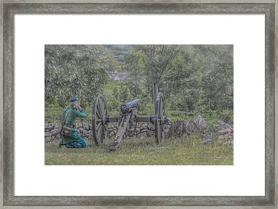 Sharpshooter's Duel Framed Print by Randy Steele