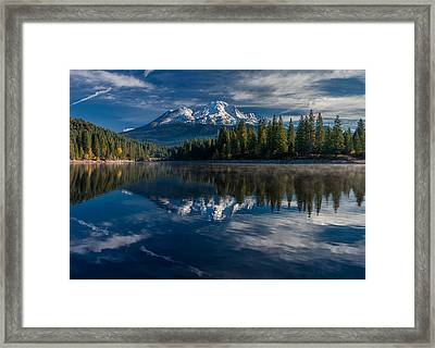 Shasta And Lake Siskiyou Framed Print by Greg Nyquist