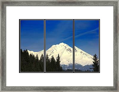 Framed Print featuring the photograph Shasta by Athala Carole Bruckner
