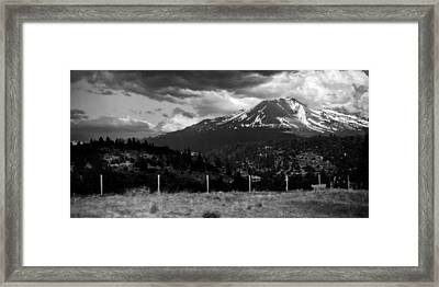 Framed Print featuring the photograph Shasta Drama by Chris McKenna