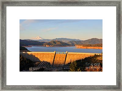 Shasta Lake Dam - California  Framed Print