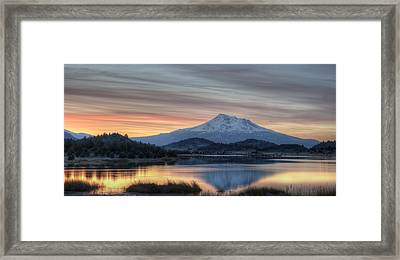 Shasta Morning Framed Print