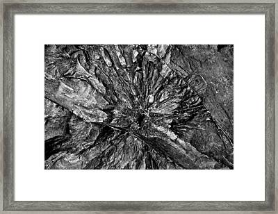 Shattercone Framed Print by Matthew Barton