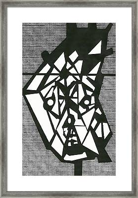 Shatterd Framed Print by David King