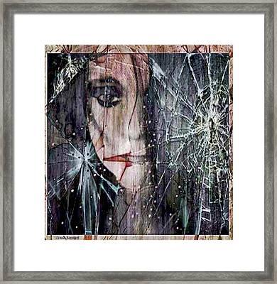 Shattered And Broken Framed Print by Linda Sannuti