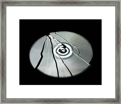 Shattered Cd-rom Framed Print