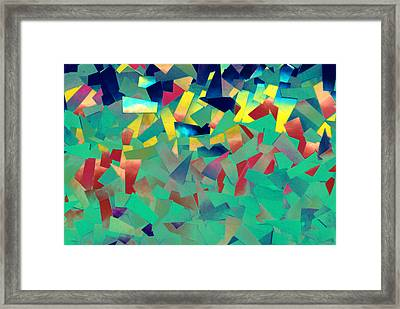 Shattered Color Framed Print by Kjirsten Collier