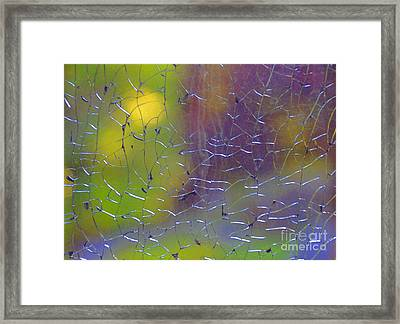 Shattered Glass Abstract 2 Framed Print by Cindy Lee Longhini