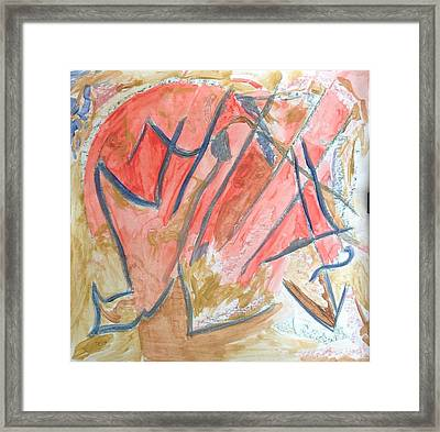 Framed Print featuring the painting Shattered Heart by Patricia Cleasby