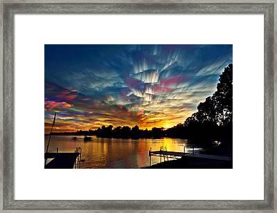 Shattered Rainbow Framed Print