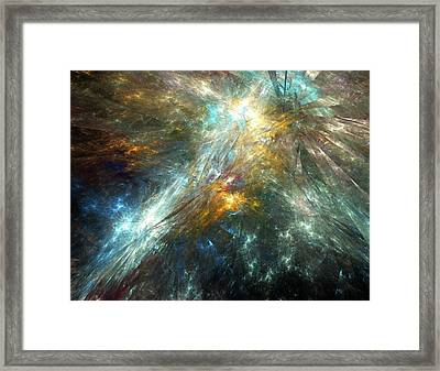 Shattered Space-time Framed Print by Equinox Graphics