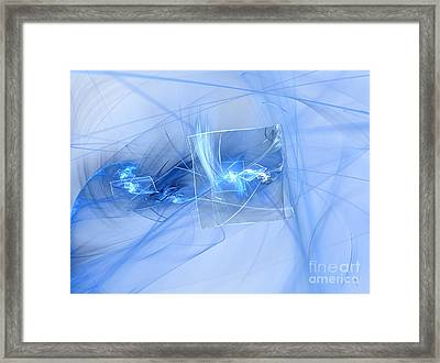 Framed Print featuring the digital art Shattered by Victoria Harrington