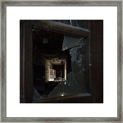 Shattered View Framed Print by Tanya Jacobson-Smith