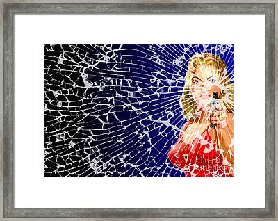 Framed Print featuring the digital art Shattered Wideshot by Sasha Keen