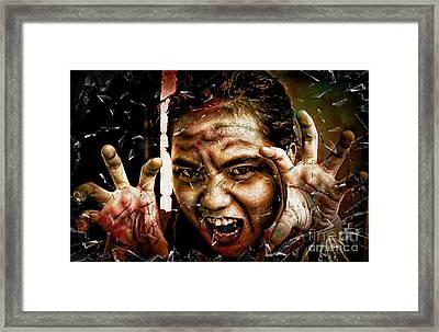 Shattering Horror Framed Print
