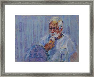 Shave And A Haircut Framed Print by Carol Berning