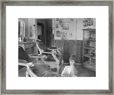 Shave And A Haircut Framed Print