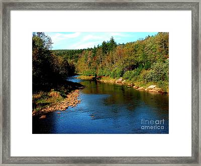 Shavers Fork Of Cheat River Framed Print by Thomas R Fletcher