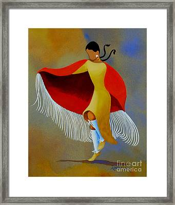 Shawl Dancer Framed Print by Ainsley McNeely