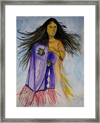 Shawl Dancer Framed Print by Linda Waidelich