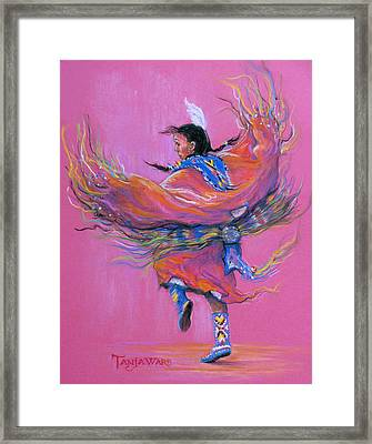 Shawl Dancer Framed Print by Tanja Ware