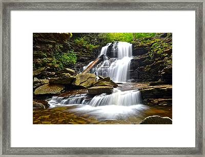 Shawnee Falls Framed Print by Frozen in Time Fine Art Photography