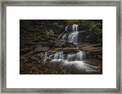 Shawnee Falls Framed Print by Roman Kurywczak