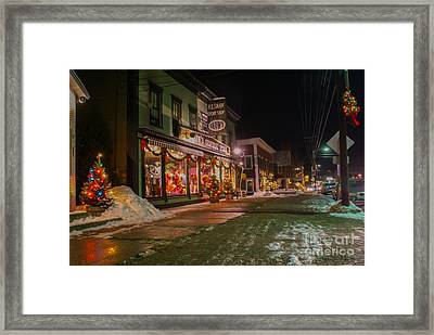 Shaws Sport Shop. Framed Print