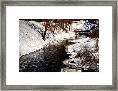 Shawsheen River Framed Print by Tricia Marchlik